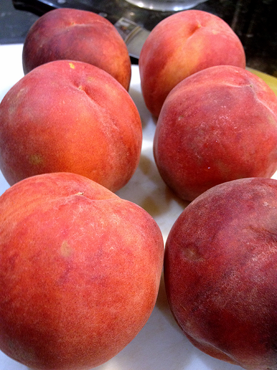 Peaches for Peach, Honey and Ricotta Pie