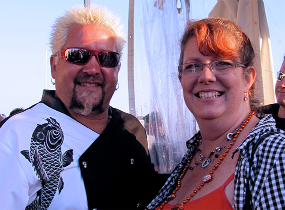 Guy Fieri and Sara