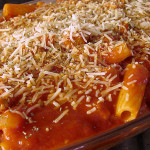 Baked Rigatoni with Spicy Italian Sausage