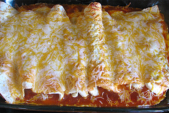 Shaved Steak Enchiladas