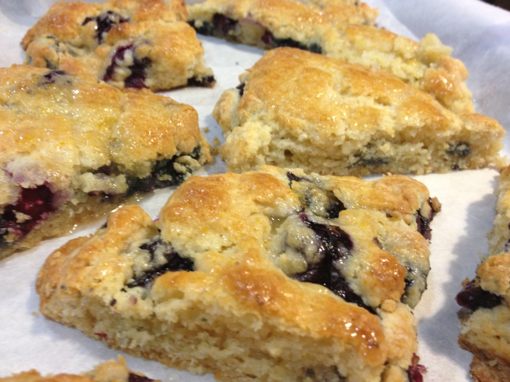 Lemon Glazed Blueberry Scones