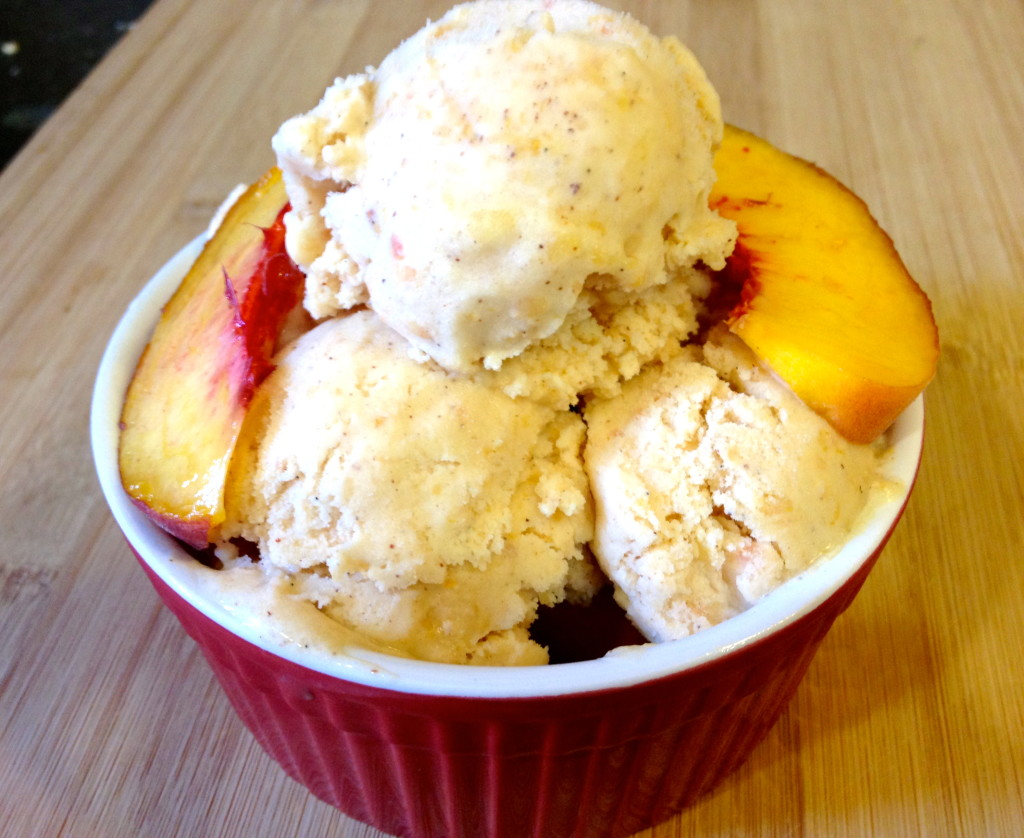 Peach Almond Ginger Ice Cream