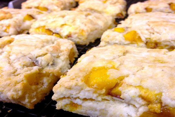Peach and Black Pepper Scones
