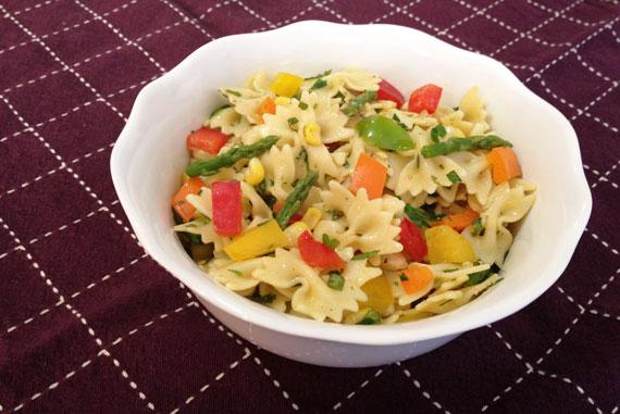 summer produce pasta