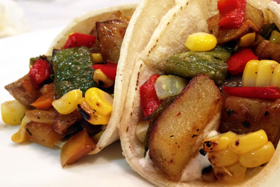 Pile on the Produce – Potato Tacos!