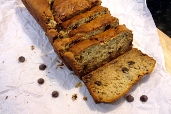 Cream Cheese Chocolate Chip Banana Bread