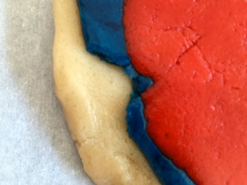 4th of July Pinwheel Cookie Dough