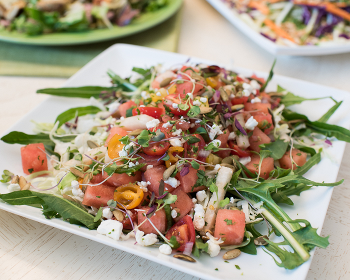Spicy Watermelon Salad with Tequila Dressing