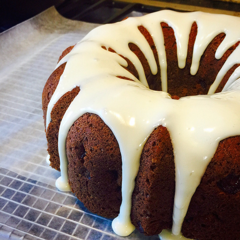 Apple Cider Pound Cake with Cider Icing
