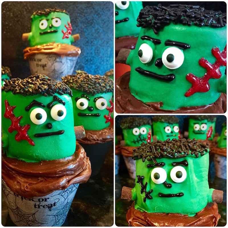 Frankenstein Chocolate Cupcakes
