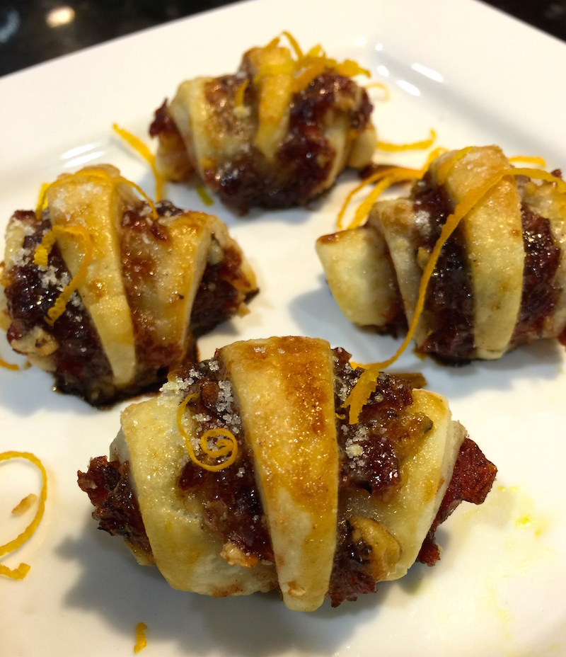 Cranberry Orange Rugelach Cookies