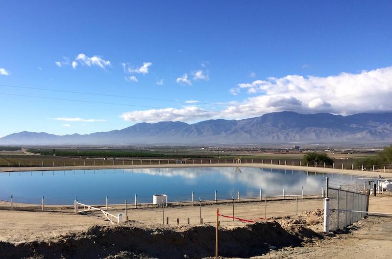 Reservoir above Primetime Farms