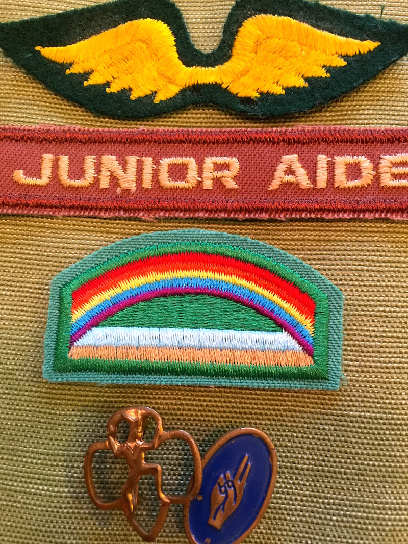 Old Girl Scout Badges