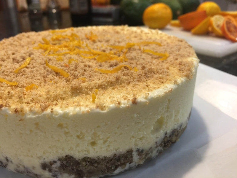 Lemon Ice Cream Pie with a Girl Scout Cookie Crust