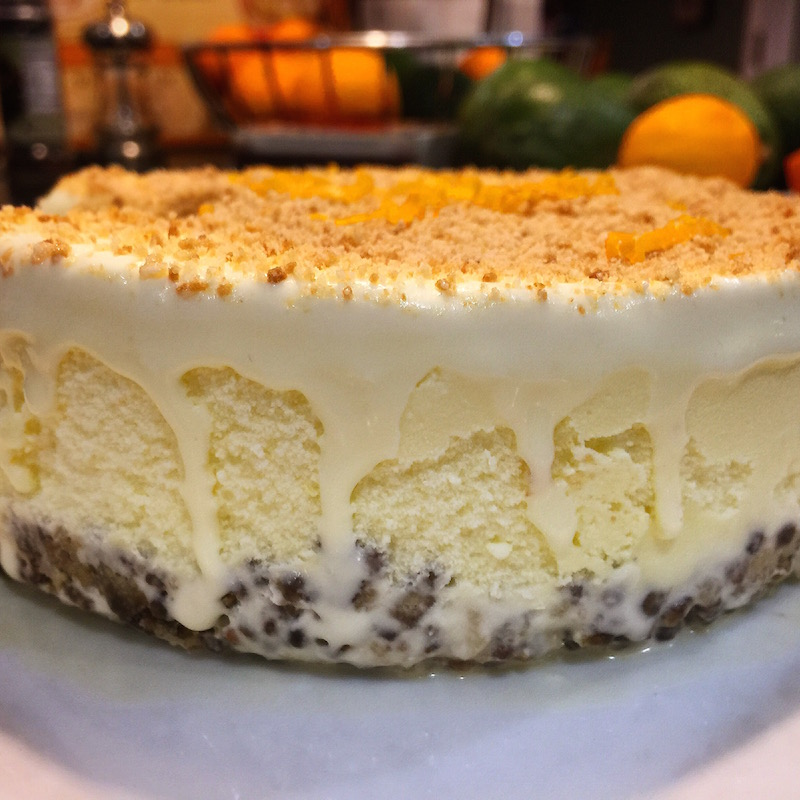 Meyer Lemon Ice cream pie