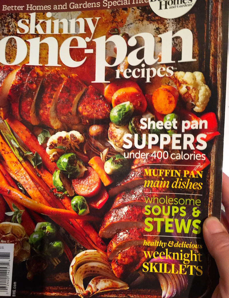 Magazine Cover Skinny One Pan Recipes Better Homes and Gardens