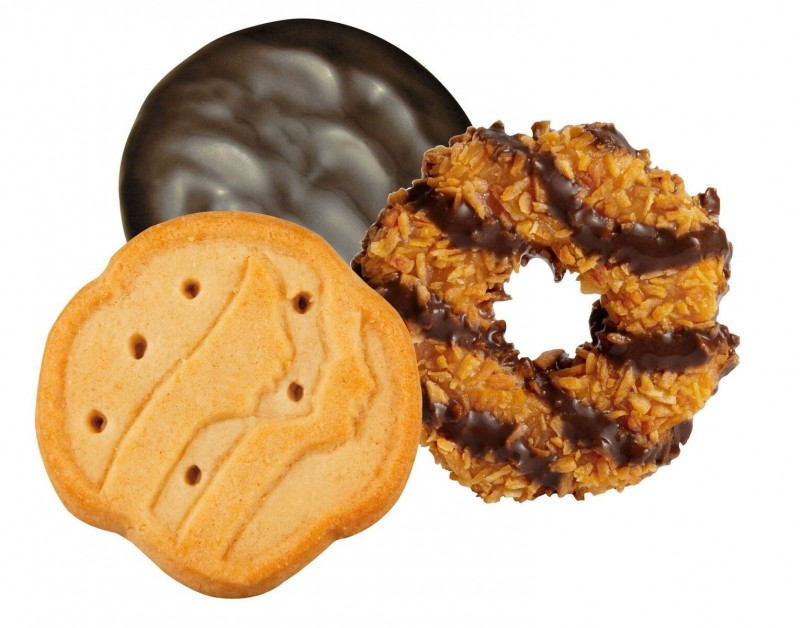 Girl Scout Cookie Trio