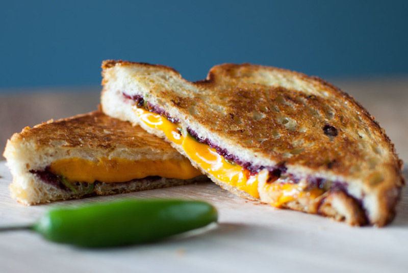 Boysenberry Serrano Grilled Cheese