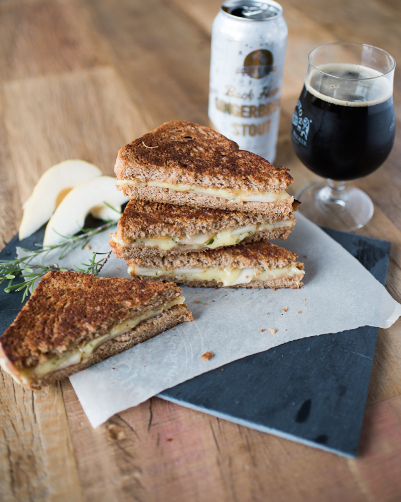 Cheddar Pear Rosemary Grilled Cheese