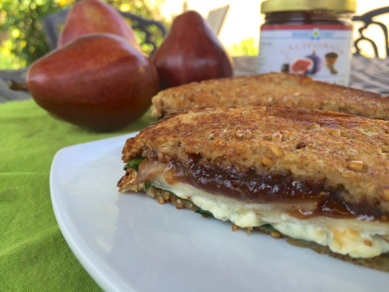 Fig and Pear Grilled Cheese Sandwiches