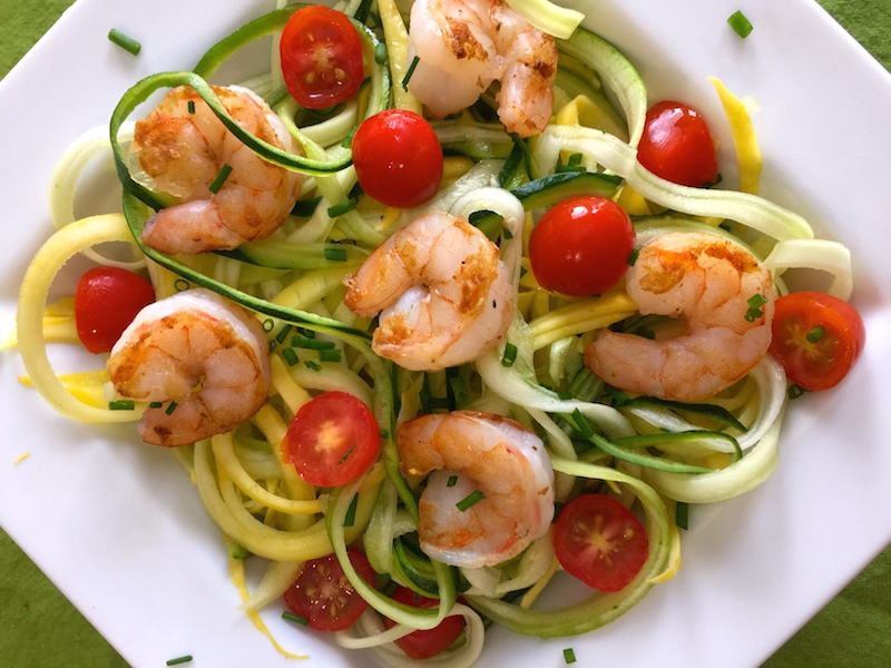 Pesto shrimp and zoodles oh my sundaysupper my for Zoodles kitchen set