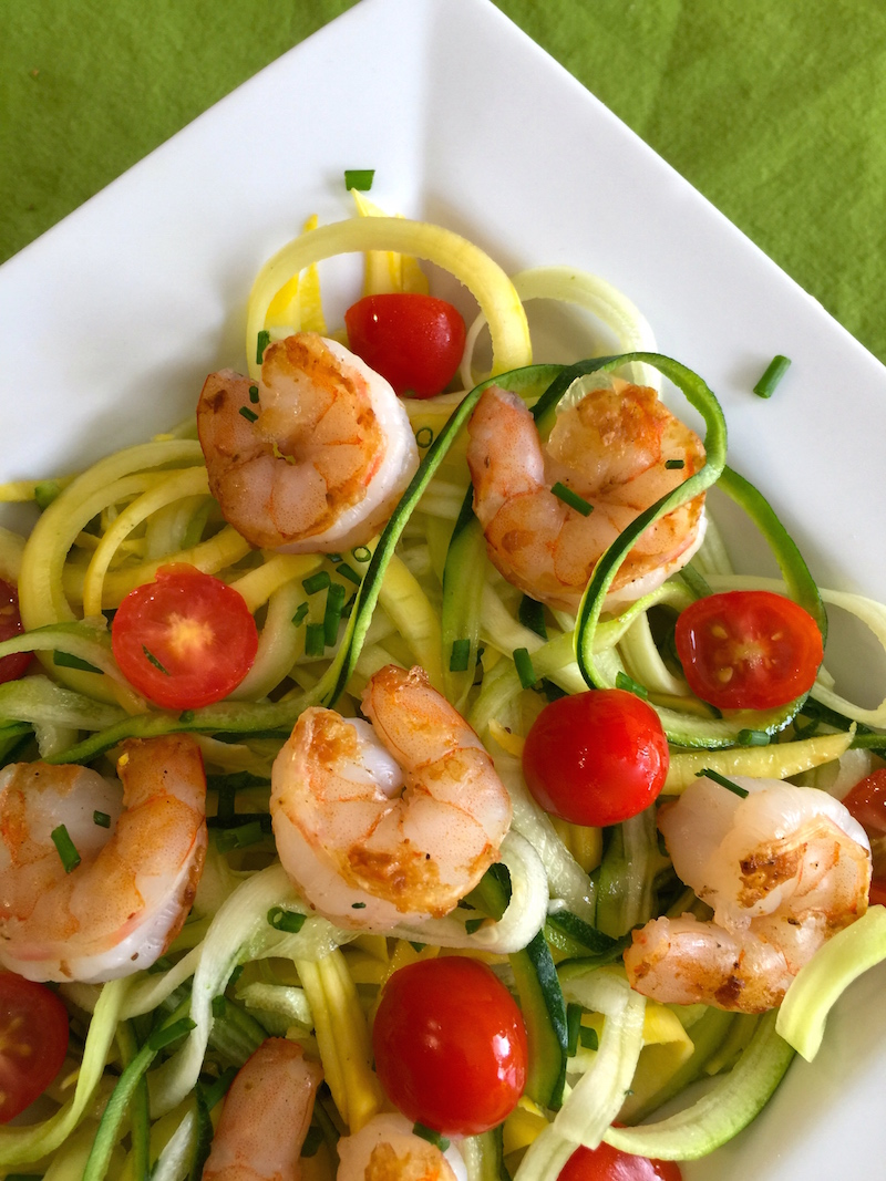 Pesto, Shrimp and Zoodles