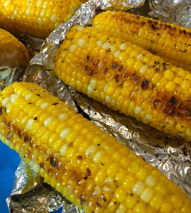 Grilled Corn with Herb Butter for Sunday Supper