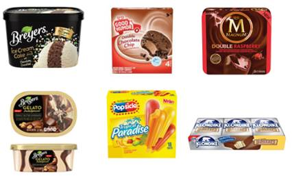 Unilever Brands Ice Cream Treats