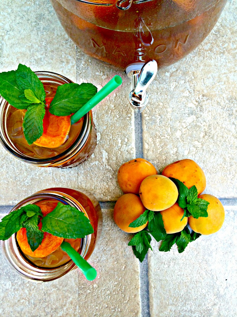 Apricot Mint Iced Tea The Complete Savorist