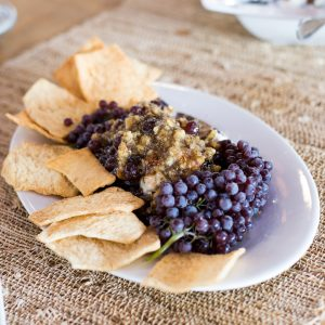Fig, Goat Cheese And Champagne Grape Spread