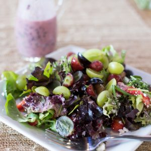 Summer Salad With Savory Grape Dressing