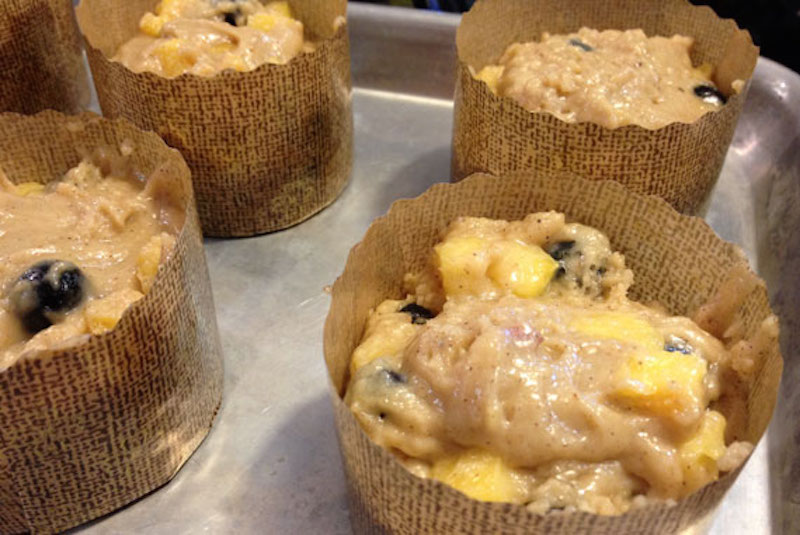 Peach Blueberry Muffins