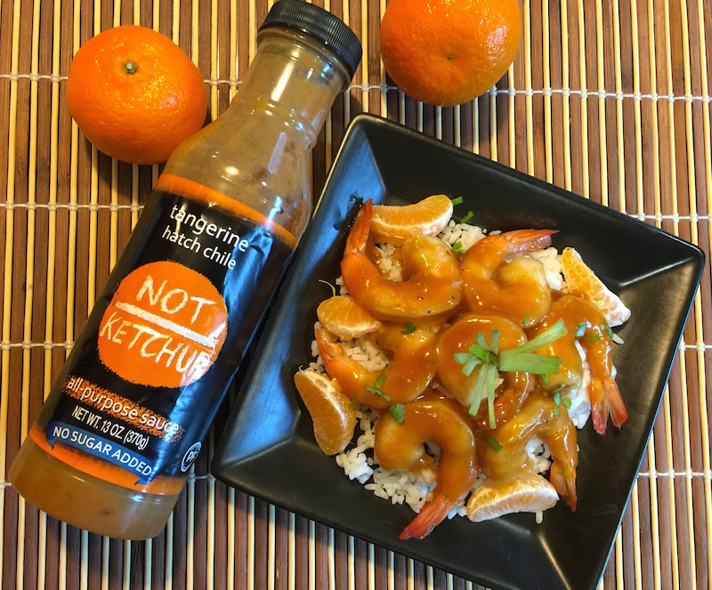Tangerine Hatch Chile Asian-Glazed Shrimp