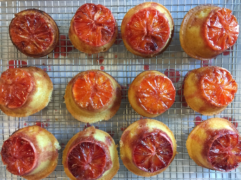 Blood Orange Upside Down Cakes
