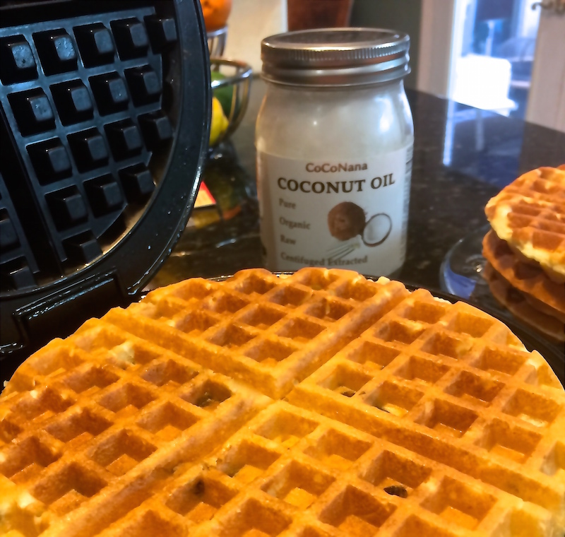 Coconut Chocolate Chip Waffles CoCoNana Solutions