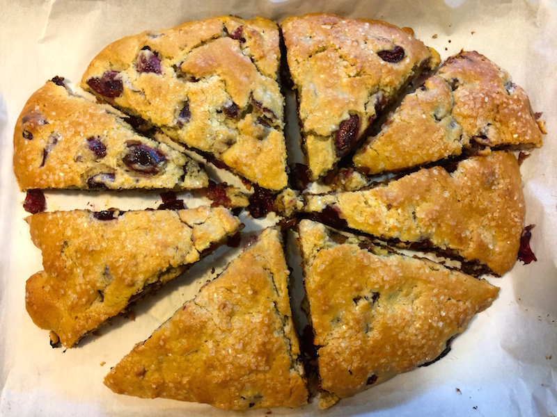 Cherry Chocolate Chip Scones