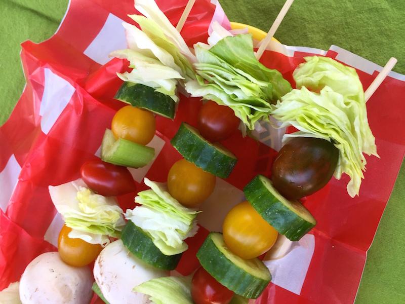 Salad on a Stick Sunday Supper
