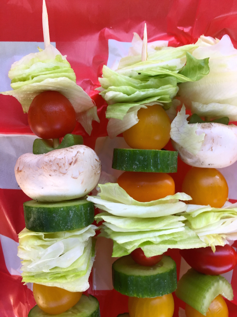 Salad on a Stick Sunday Supper