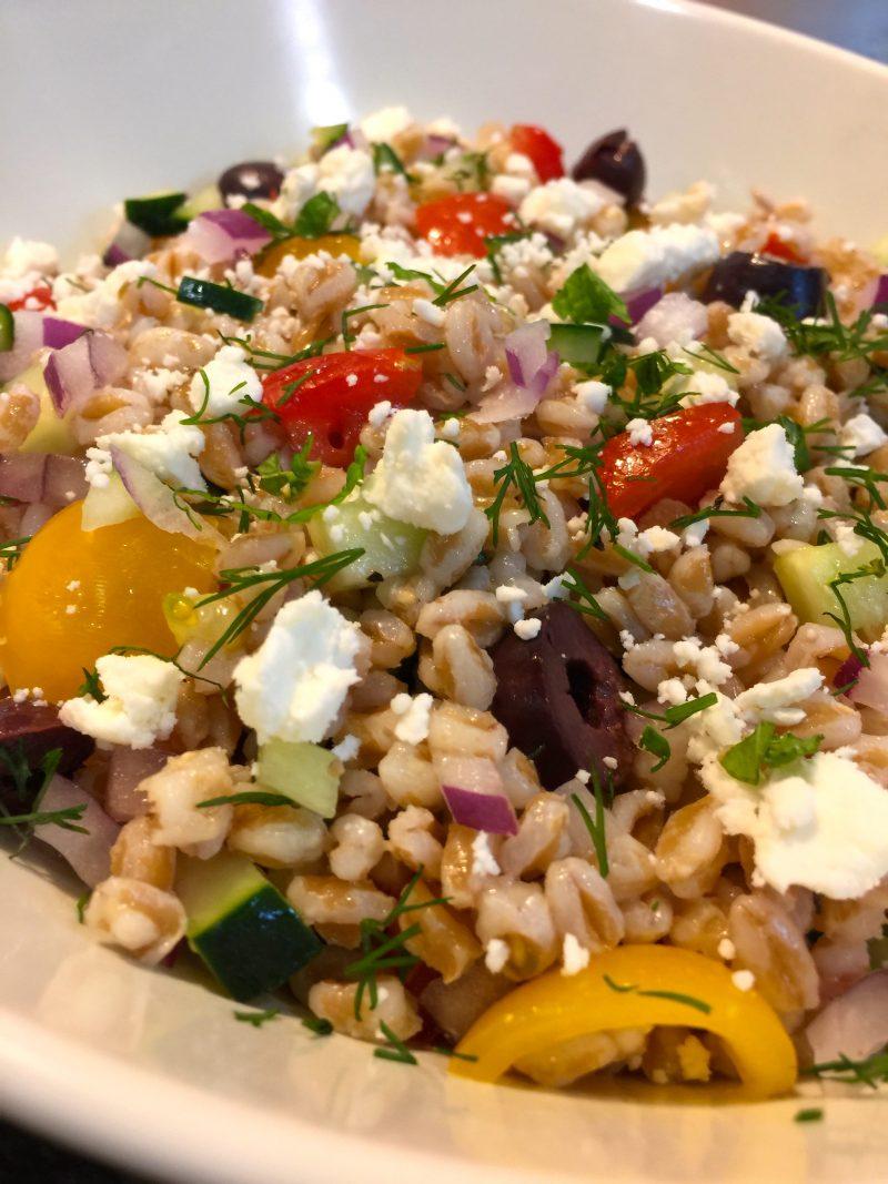 OC Fair Demo Mediterranean Farro Salad