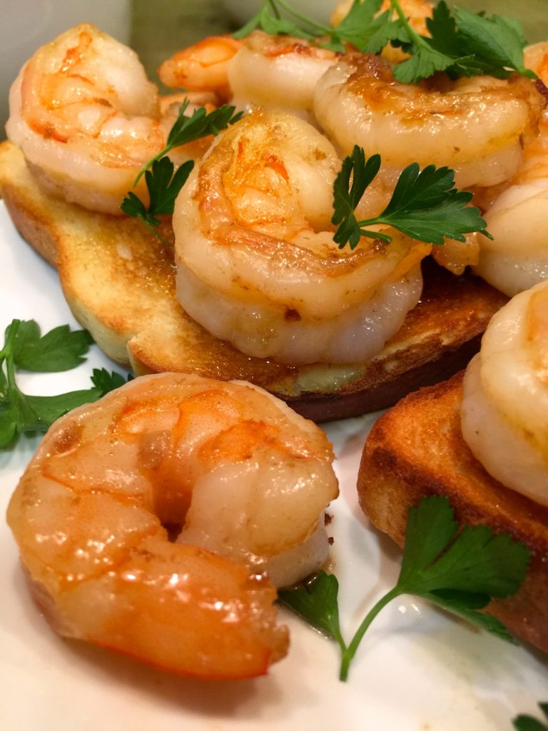 Garlic Shrimp Montaditos
