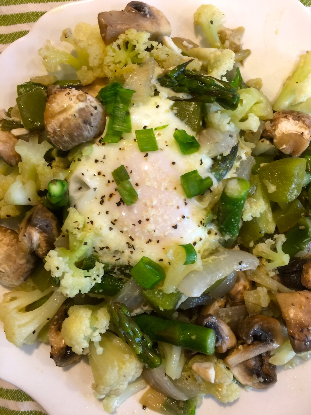 Fioretto Flowering Cauliflower Breakfast Hash