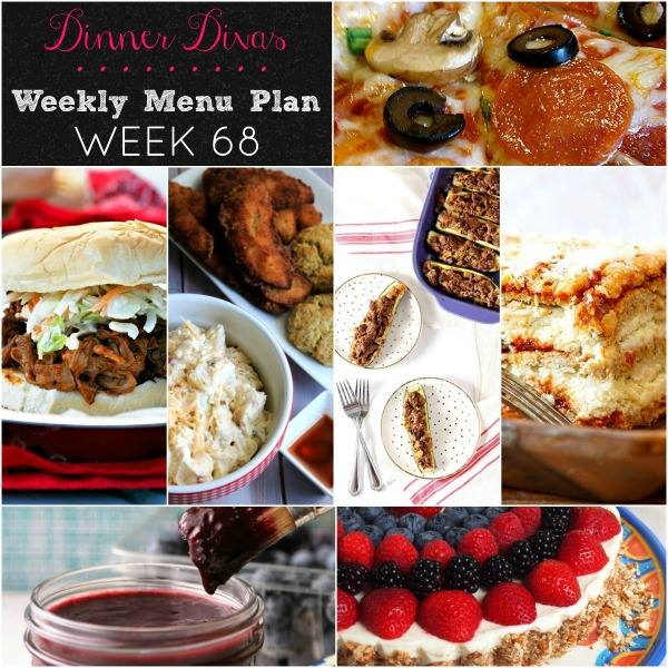 Dinner Divas Weekly Menu Plan Week 68