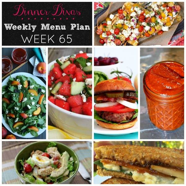 Dinner Divas Weekly Menu Plan: 65