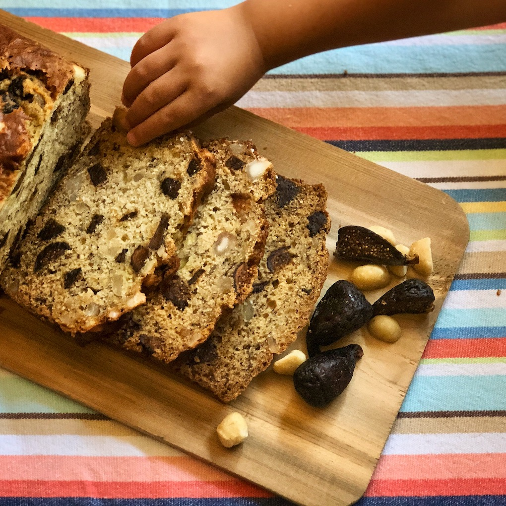 California Fig Banana Bread with the Minis