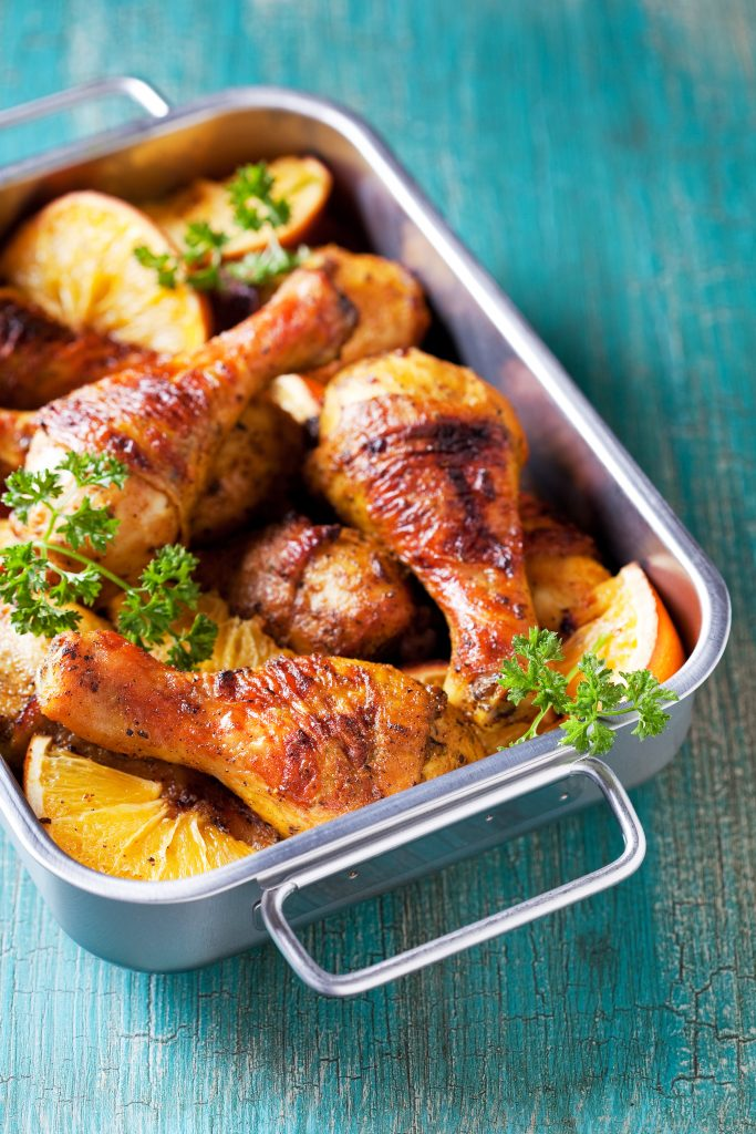 Roasted Orange Chicken Legs
