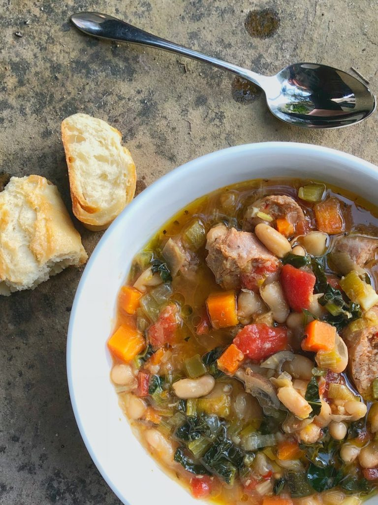 Tuscan White Bean Soup via Brit+Co