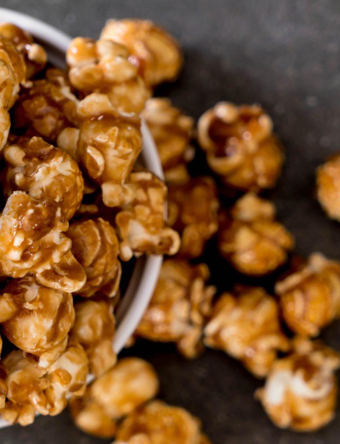 Peanut Butter Whiskey Caramel Popcorn