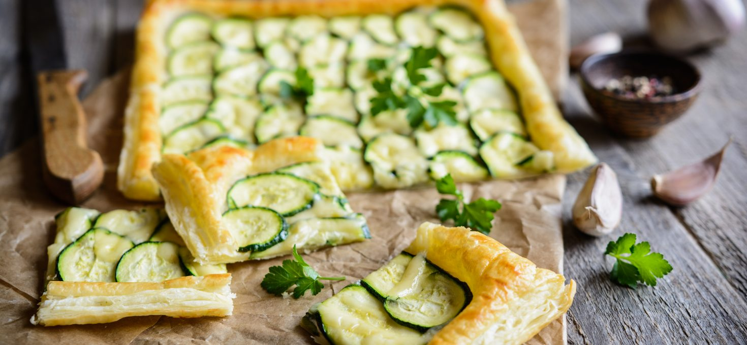 Zucchini Tart with Puff Pastry