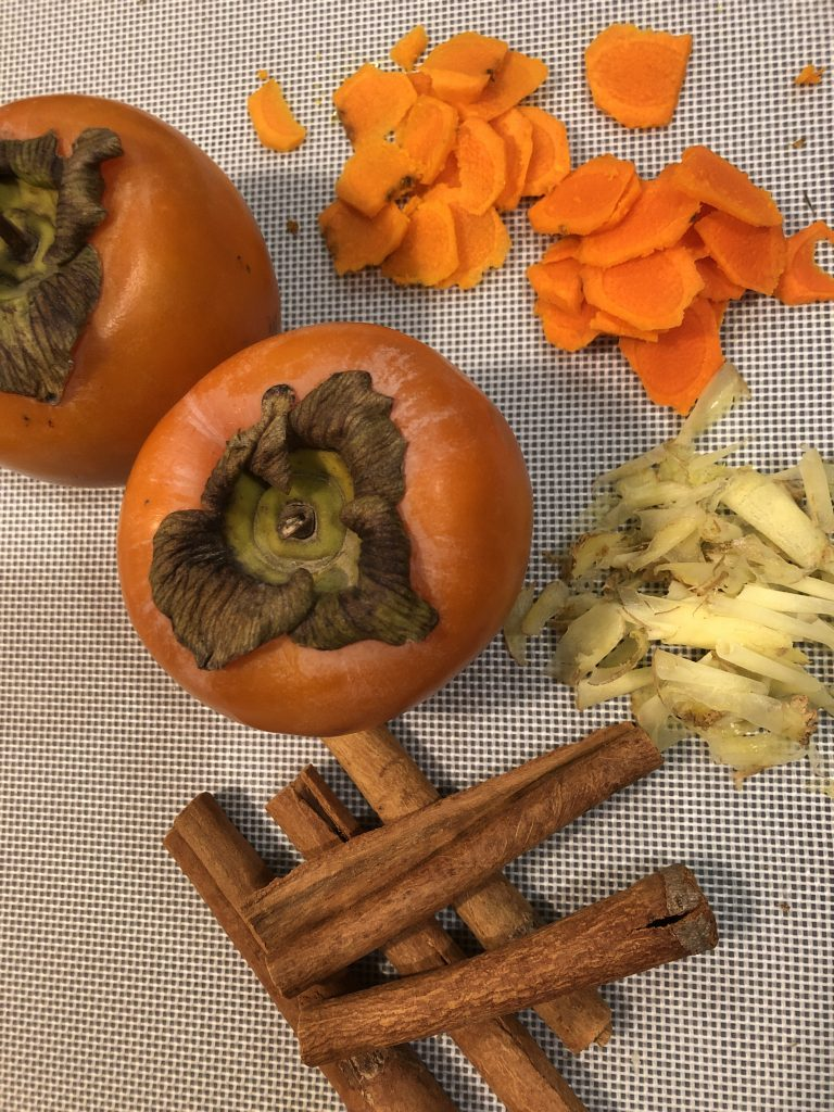 Ginger Persimmon Turmeric Tea