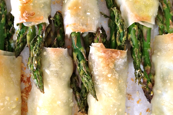 Asparagus Wraps with Limoncello!